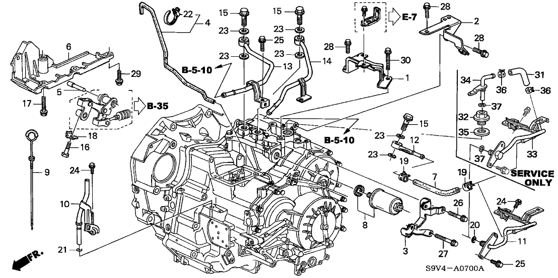 24451-PGN-000 - Genuine Honda Shaft, Change