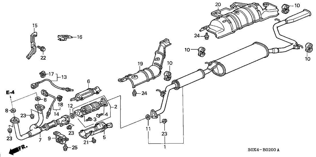 18160-P8F-A10 - Genuine Honda Converter