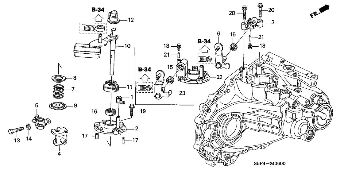 24470-PLW-010 - Genuine Honda Lever, Gearshift