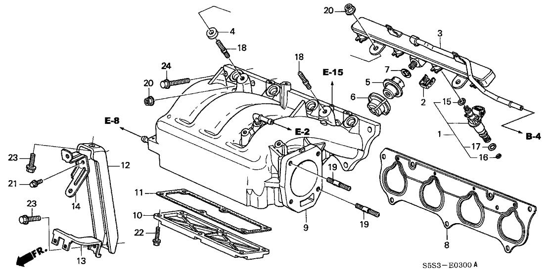 2003 honda civic si engine diagram 32742 pna 000 genuine honda stay b  engine wire harness  32742 pna 000 genuine honda stay b