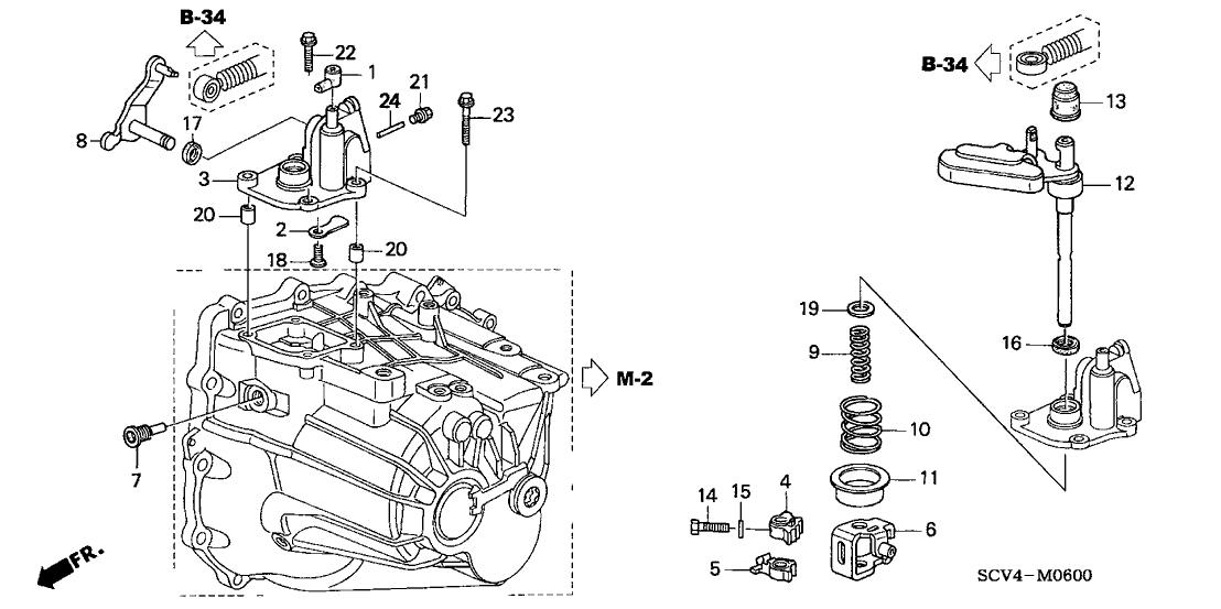 2004 honda element engine diagram