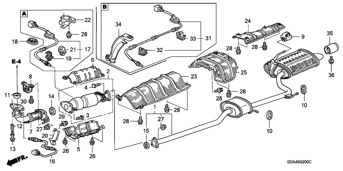 18302-SP0-003 - Genuine Honda Gasket, Exhuast Pipe