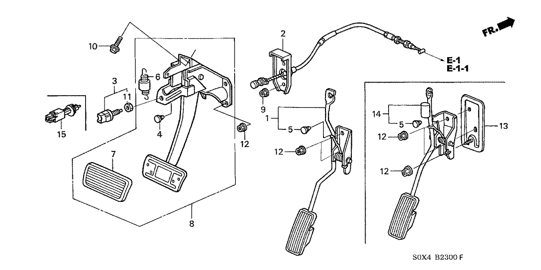 17910 s0x a82 genuine honda wire throttle. Black Bedroom Furniture Sets. Home Design Ideas