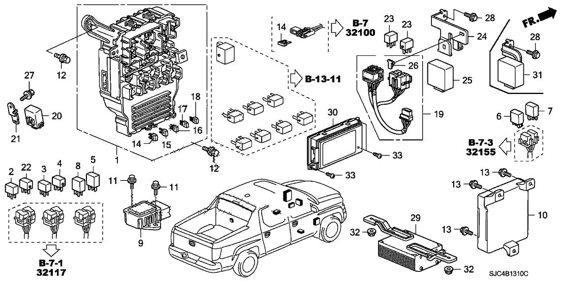 2006 Honda Ridgeline Fuse Diagram