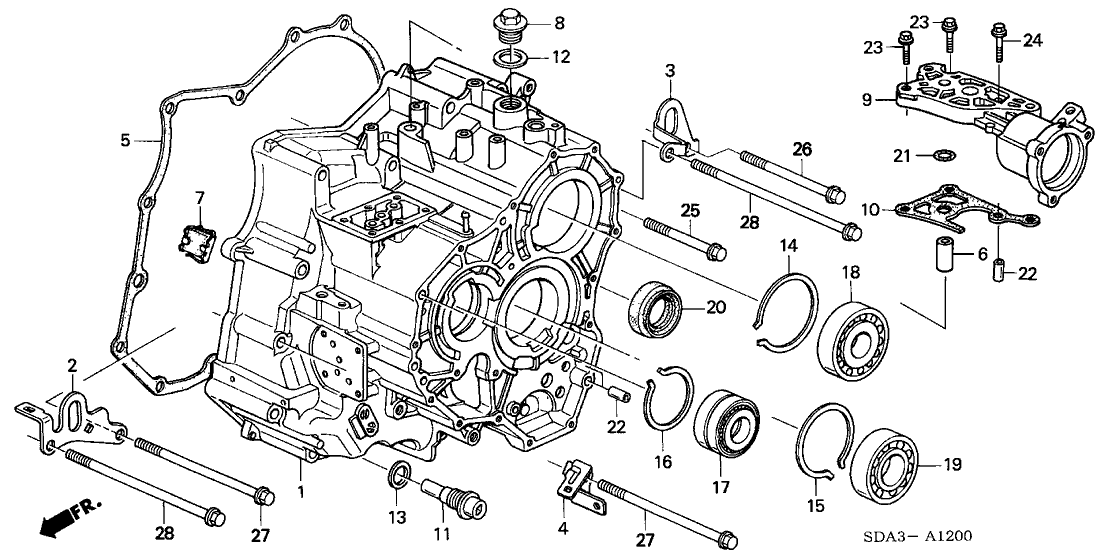 Cool 2005 Honda Accord 4 Door Ex V6 Ka 5At At Transmission Case V6 Wiring Digital Resources Jebrpkbiperorg