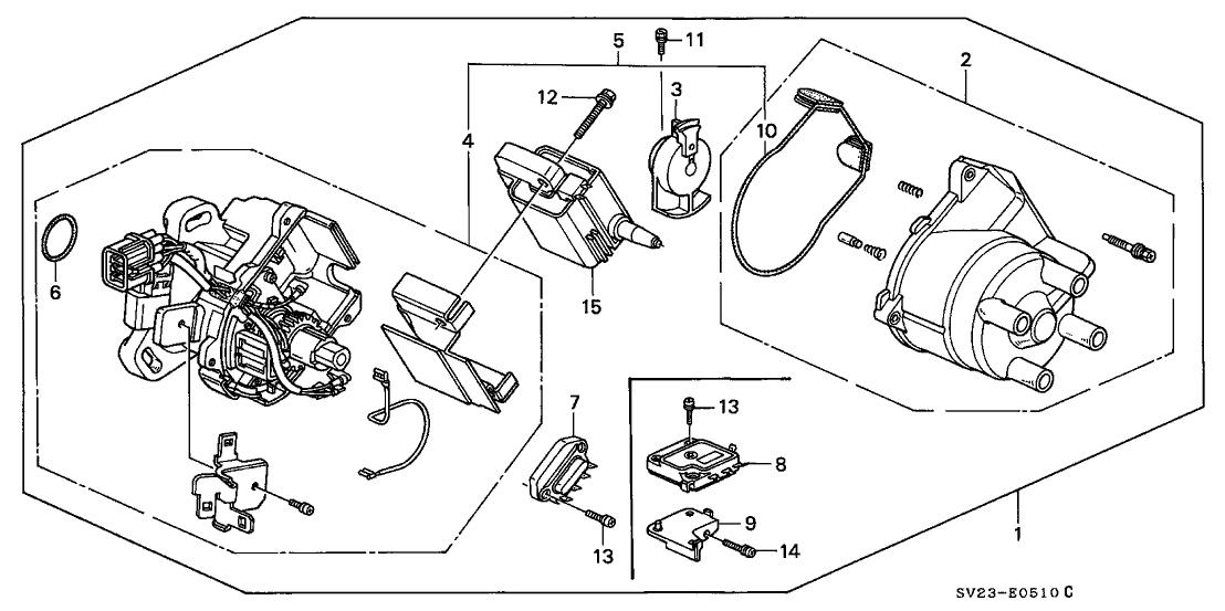 Honda Accord Distributor Cap Diagram