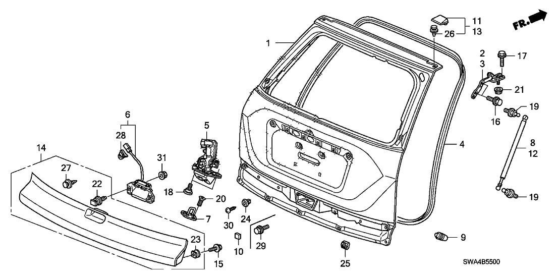 Wiring Diagram: 30 2005 Honda Crv Parts Diagram