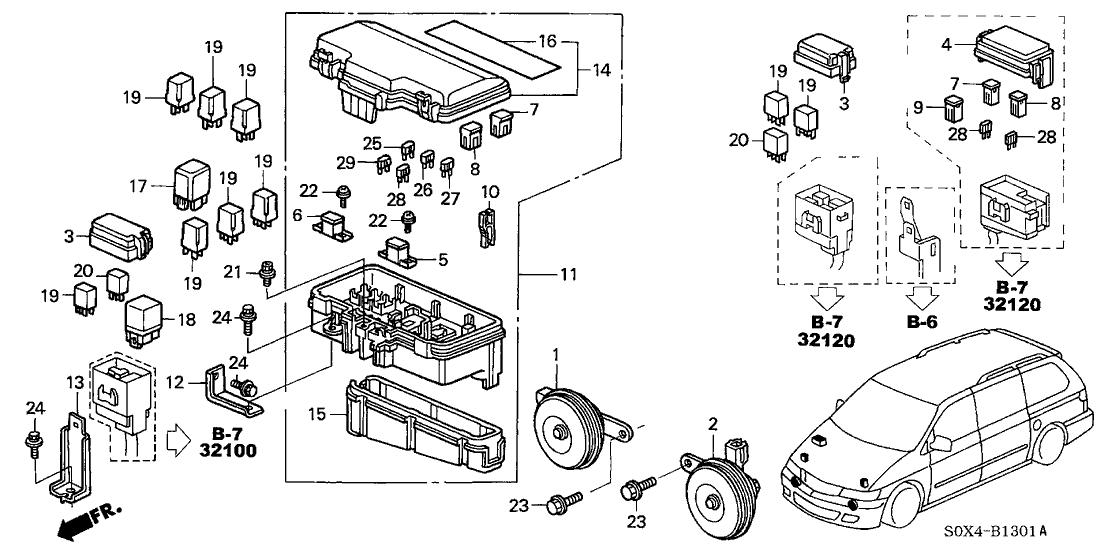 Wiring Diagram PDF: 2003 Honda Odyssey Fuse Box