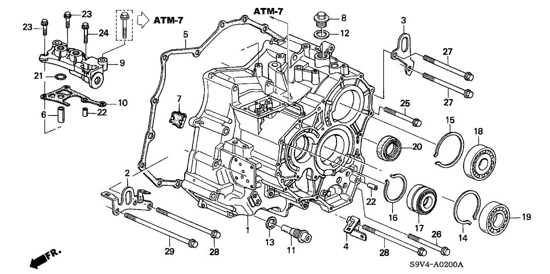 2004 saturn ion drl wiring diagram 25812 p7w a01 genuine honda gasket  passage body  atf   25812 p7w a01 genuine honda gasket  passage body  atf