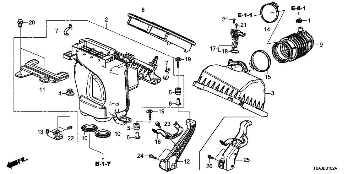Honda 17228-5BA-A01