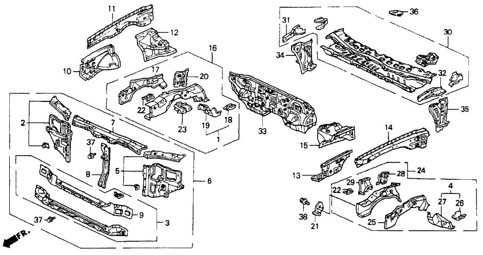 1992 Honda Accord Exhaust System Diagram