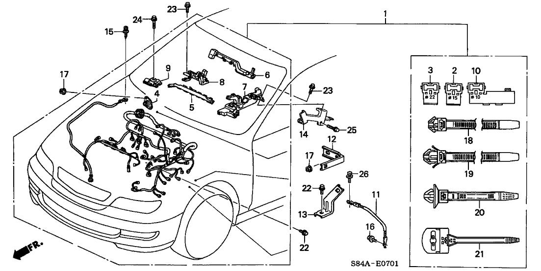 32110 p8c a51 genuine honda wire harness engine. Black Bedroom Furniture Sets. Home Design Ideas
