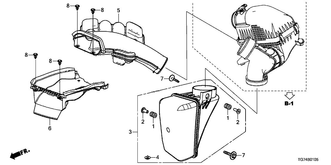 2019 Honda Pilot 5 Door Ex Leather  Sense  Ka 6at Resonator Chamber