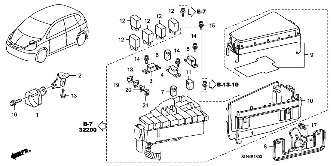 Circuit Electric For Guide: 2007 honda fit engine diagram