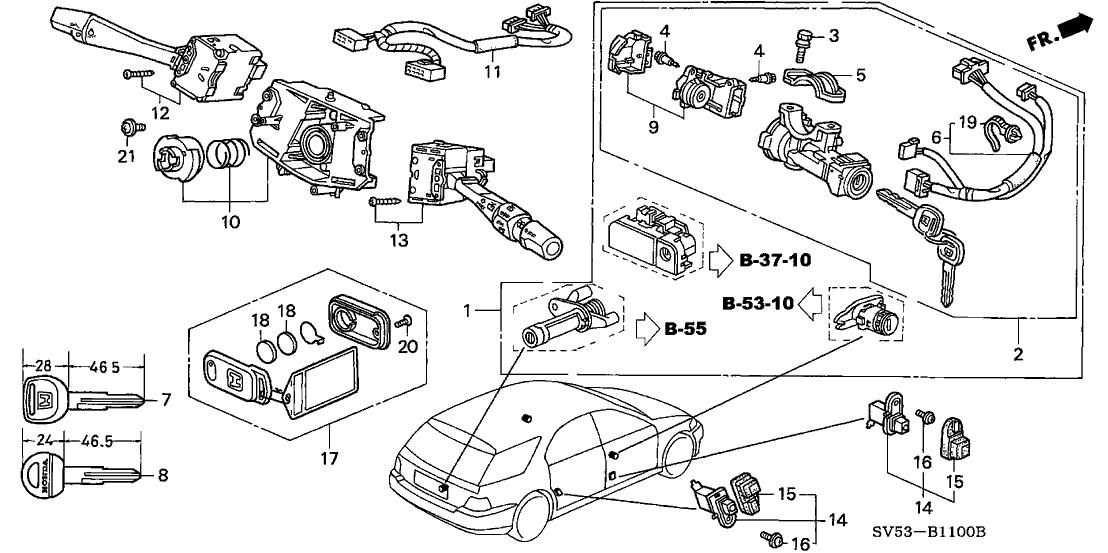 35130-SV4-003 - Genuine Honda Switch, Steering