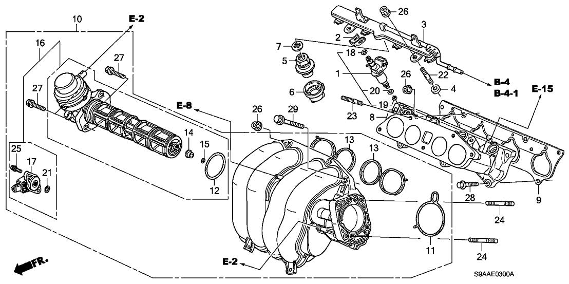 2006 honda cr v 5 door se ka 5at intake manifold Honda CR-V Engine Problems