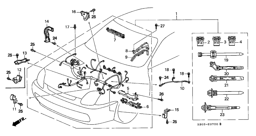 1997 honda prelude wiring diagram 32110 p5m a50 genuine honda wire harness  engine  32110 p5m a50 genuine honda wire