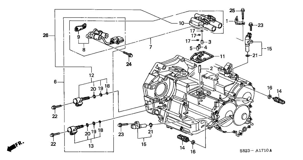2001 Honda Accord 2 Door EX (V6) KA 4AT AT Sensor - Solenoid