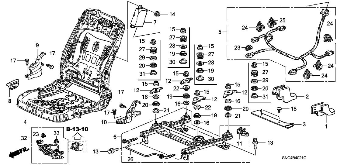2010 Honda Civic Body Parts Diagram