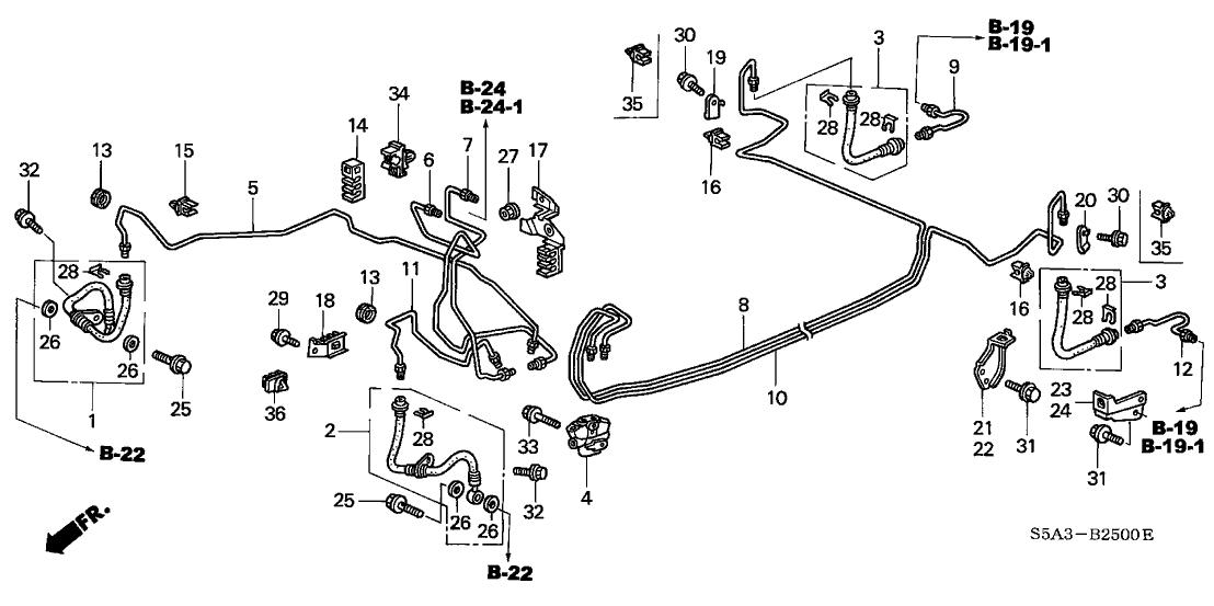 2001 Honda Civic Exhaust System Diagram