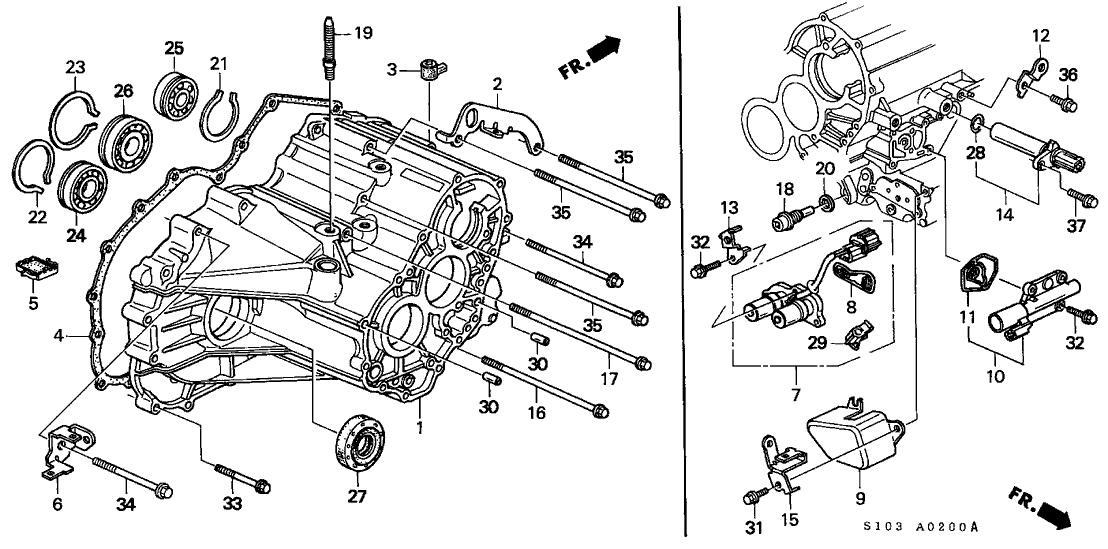 2000 Honda Cr V Engine Diagram