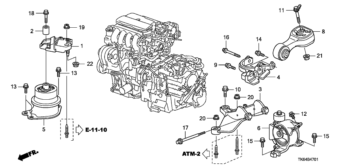 honda 50620 tf0 j02 Chrysler Town & Country Engine Diagram