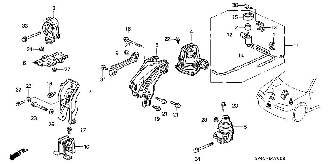 95 Honda Accord Lx Engine Diagram