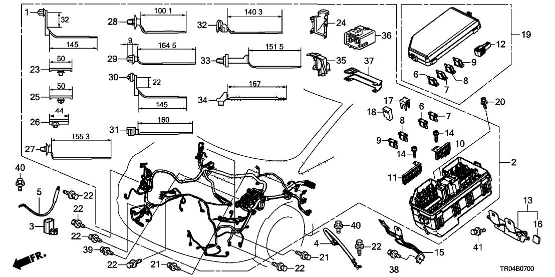 32200TR0A00  Genuine    Honda    Wire Harness  Engine Room