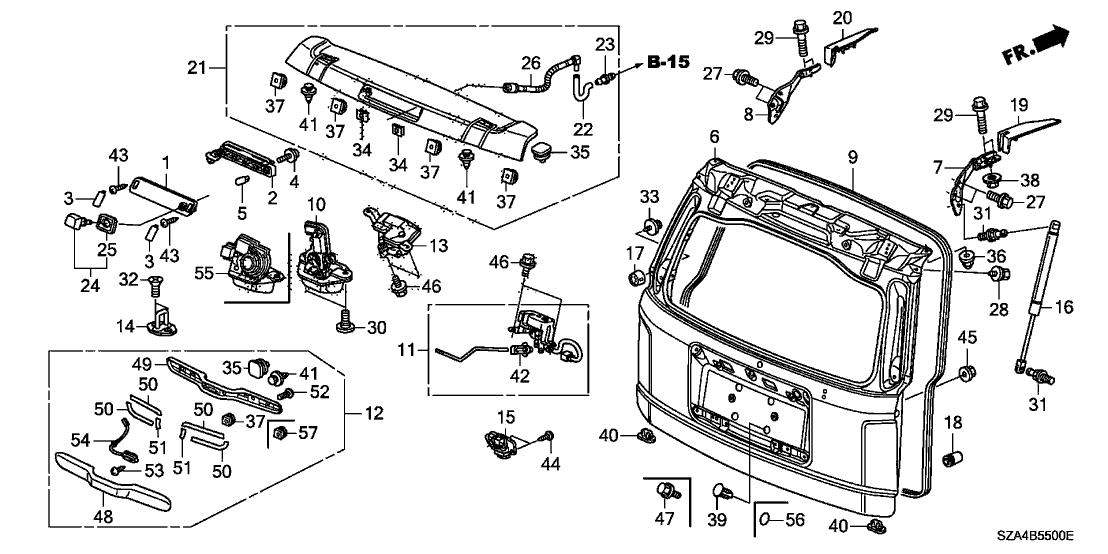 Wiring Diagram: 32 2012 Honda Pilot Parts Diagram