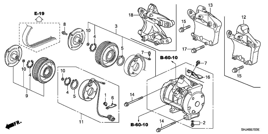 38930-RGM-A00 - Genuine Honda Bracket, Compressor
