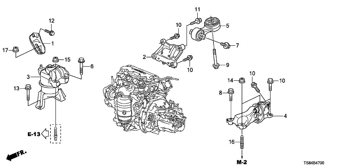 2015 honda civic 2 door ex ka 5mt engine mounts (1 8l)
