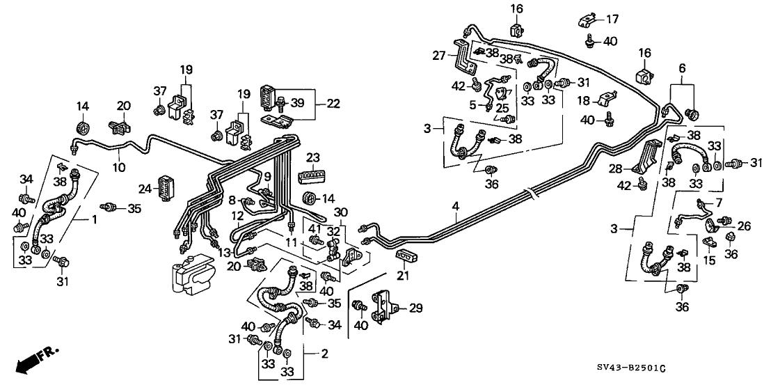 1997 Honda Accord Brake Line Diagram