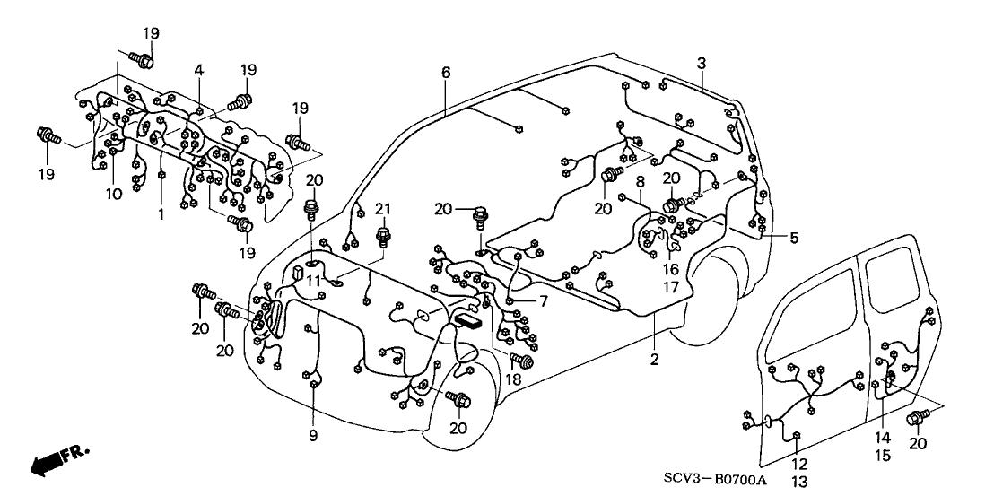 2003 honda element 5 door dx (4wd) ka 5mt wire harness 2003 Jeep Liberty Wiring-Diagram