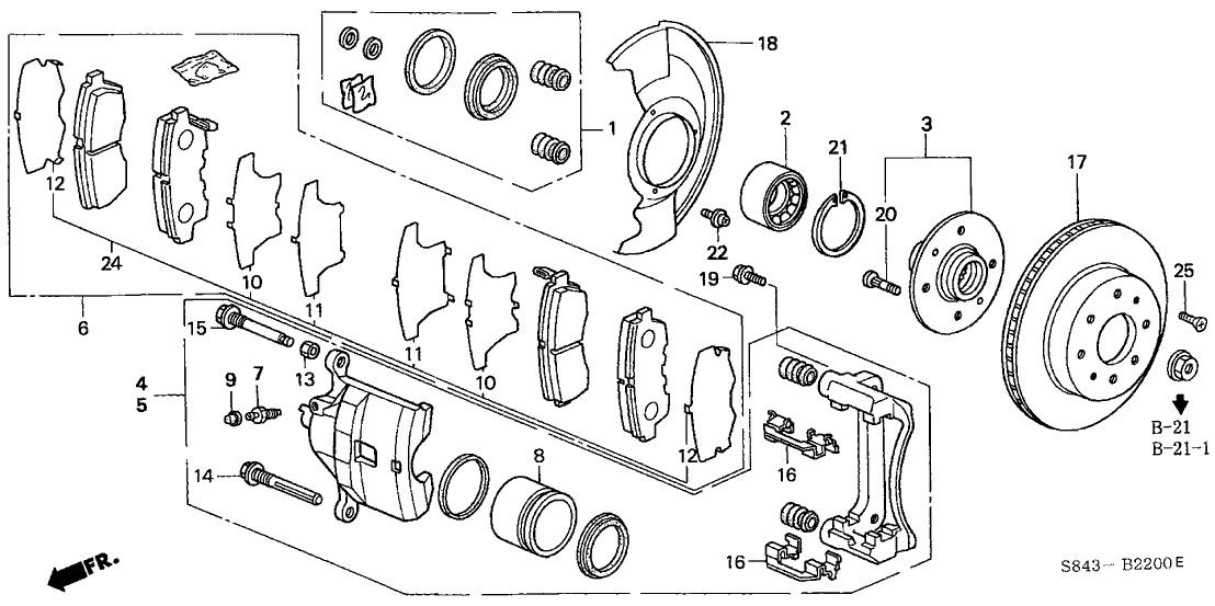 honda 45251 s84 a01 Dirt Bike Brake Diagram