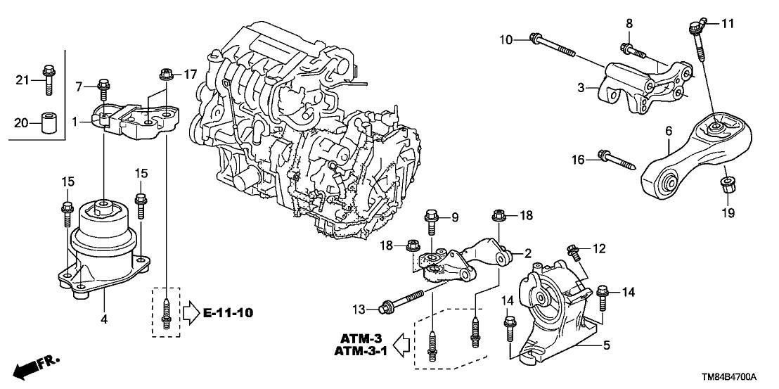 2013 honda insight 5 door ex (navigation) kl cvt engine mounts 2013 Honda Insight Engine Diagram 32120 r1a a00 genuine honda cover