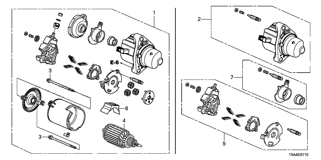 [SCHEMATICS_4FD]  2015 Honda Fit 5 Door LX KA CVT Starter Motor (Mitsuba) | 2015 Honda Fit Engine Diagram |  | Genuine Honda Parts