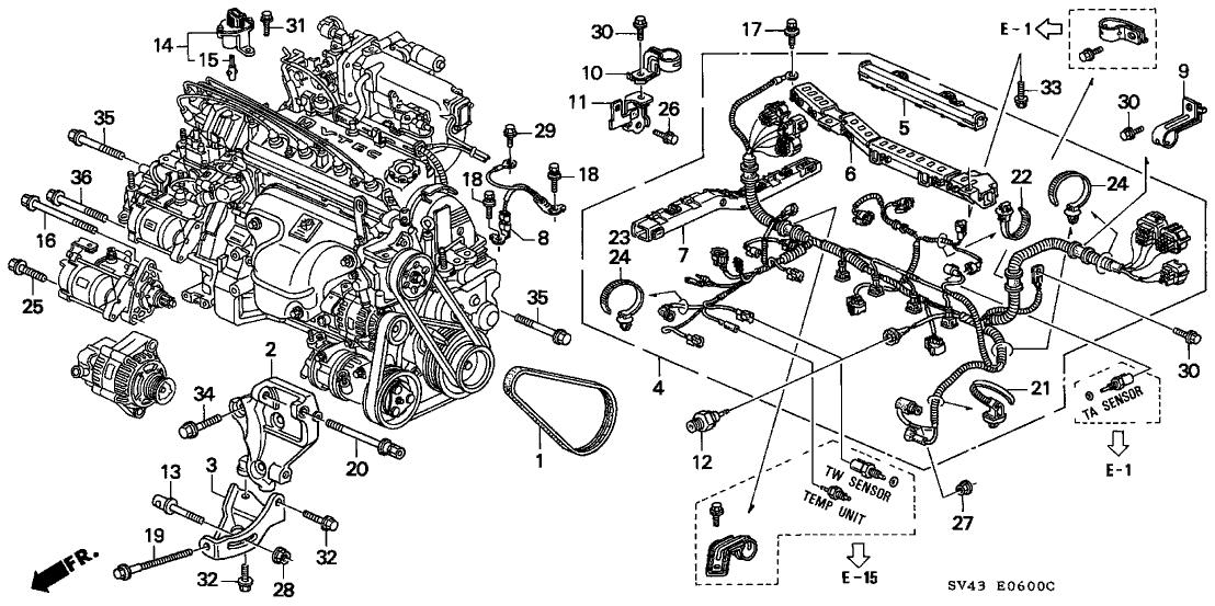 Excellent 31110 P0B A12 Genuine Honda Belt Alternator Mitsuboshi Wiring Cloud Favobieswglorg