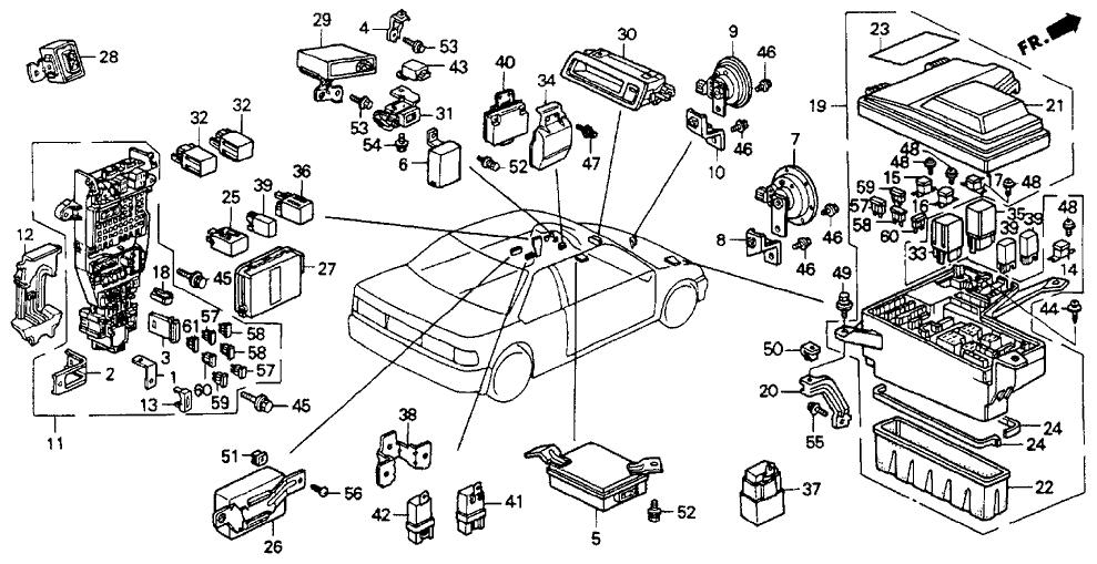 1992 honda accord 2 door ex ka 4at fuse box relay honda accord fuse box diagram accord coupe 2011 fuse box diagram