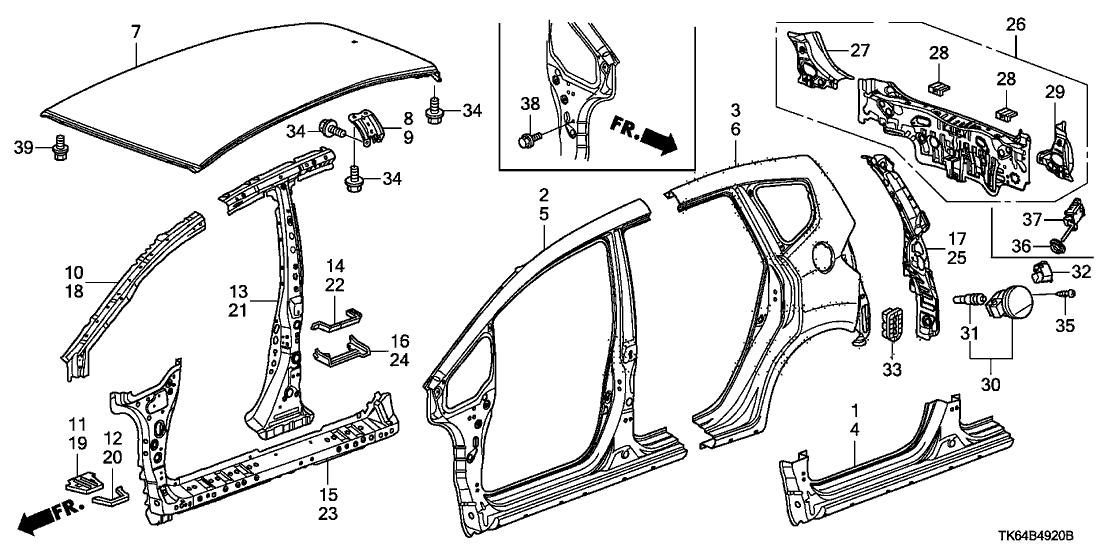 2012 Honda Fit Parts Diagram