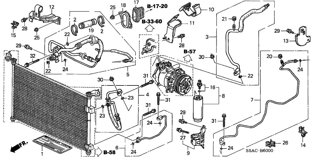 80331-S5D-A11 - Genuine Honda Pipe, Condenser