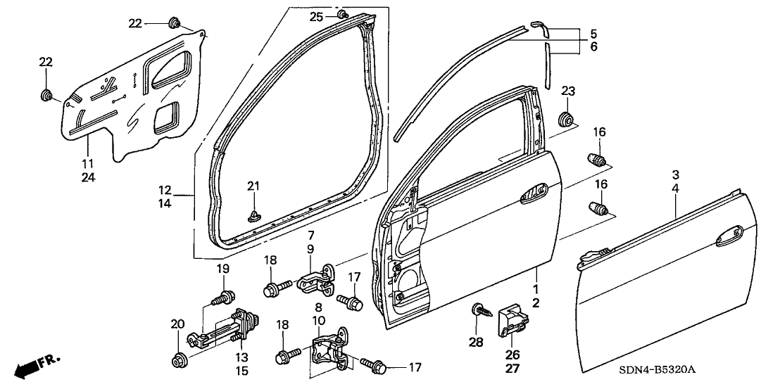 2004 honda accord parts diagram