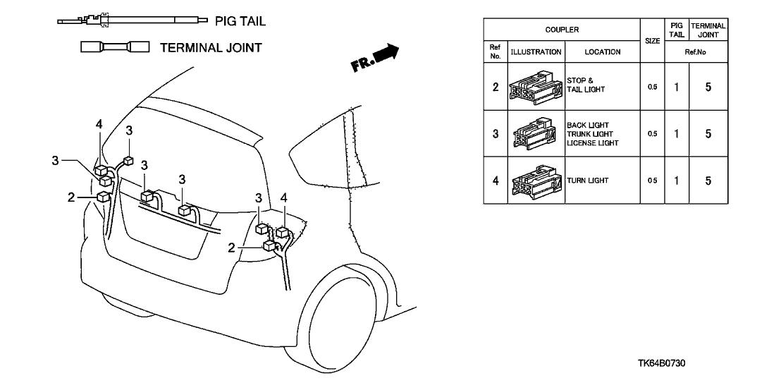 Trunk Wiring Diagram Honda 2009