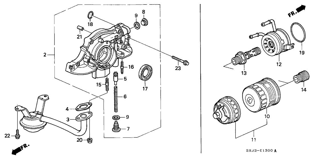 1993 Honda Civic 3 Door Si Ka 5mt Oil Pump