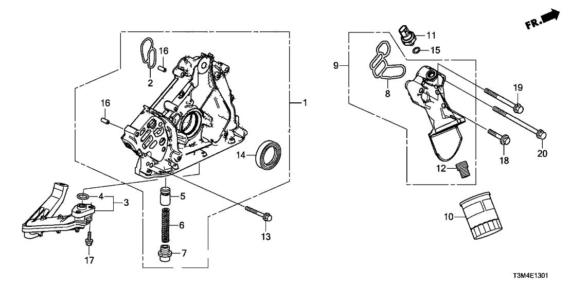 15302 5g0 A00 Genuine Honda Gasket Oil Filter Base