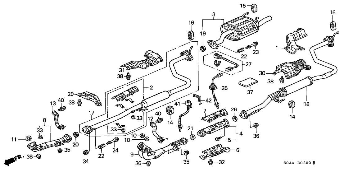 honda 18220 s01 c81 toyota camry exhaust system diagram diagram of honda civic exhaust system