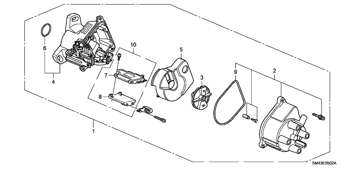 Magnificent 06301 Pt3 A20 Genuine Honda Distributor Housing Kit Wiring Cloud Oideiuggs Outletorg