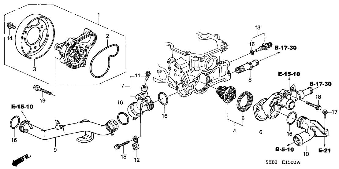 honda 19505 pza 000 2005 Honda Civic Engine Parts