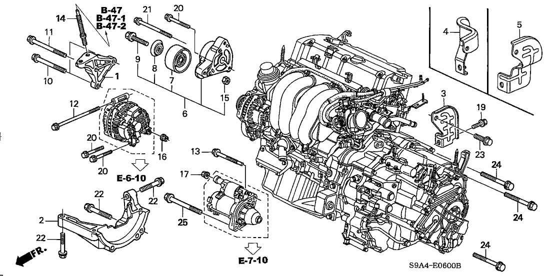 31180-PNA-003 - Genuine Honda Pulley, Idler