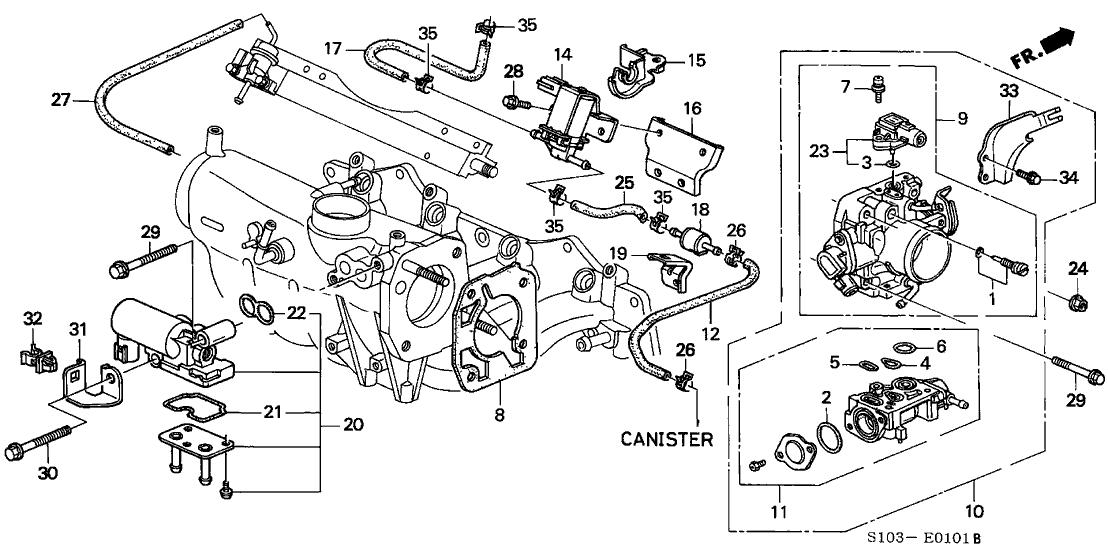 2001 honda crv exhaust system diagram