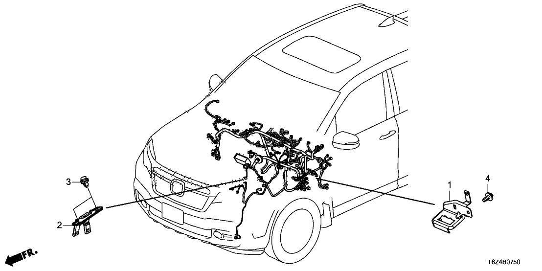 2017 Honda Ridgeline 4 Door RT (2WD) KA 6AT Wire Harness cket on